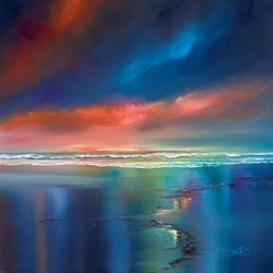 Beach Sun Set by Philip Gray -  sized 30x30 inches. Available from Whitewall Galleries